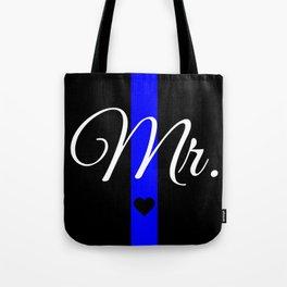 Thin Blue Line Mr. Pillow Tote Bag