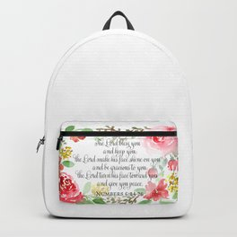 The blessing | Watercolor | Christian Art Backpack