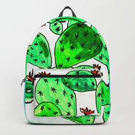 Cacti with marble sky Backpack