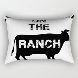 life is much better on the ranch tee, farm tees, farming Rectangular Pillow