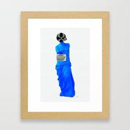 Statue Life TV · Blue Sunday Framed Art Print