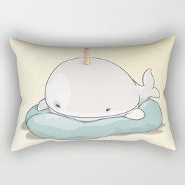 Sleepy BDay Whale Rectangular Pillow