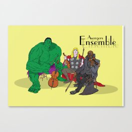 Avengers Ensemble  Canvas Print