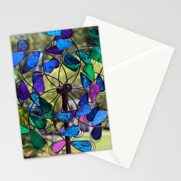 Garden Colored Fan Stationery Cards