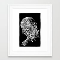 hunter s thompson Framed Art Prints featuring Hunter S Thompson by Andy Christofi