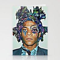 basquiat Stationery Cards featuring Basquiat by Katy Hirschfeld