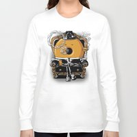 gangster Long Sleeve T-shirts featuring Gangster Donut by Javier Ramos