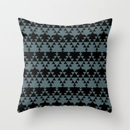 Southwest Stripes in Black + Sage Green Throw Pillow