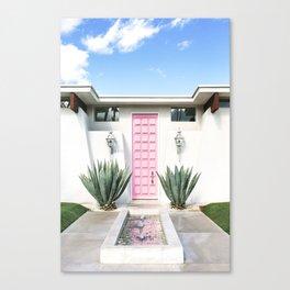Palm Springs Pink Door Canvas Print