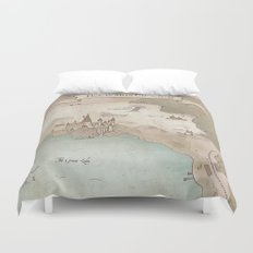 Map of Hogwarts Duvet Cover