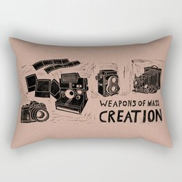 Weapons Of Mass Creation - Photography (blk on brown) Rectangular Pillow