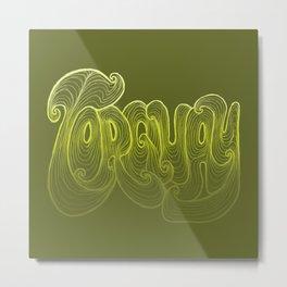 Torquay Typography - Lime Punch Metal Print