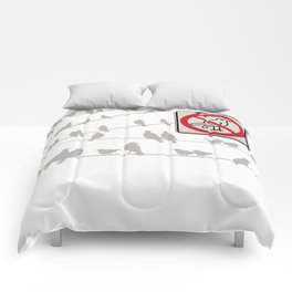 Birds Sign - NO droppings 2 Comforters