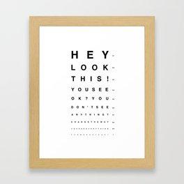 Look this! Framed Art Print