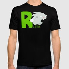 r for rabbit Mens Fitted Tee Black MEDIUM