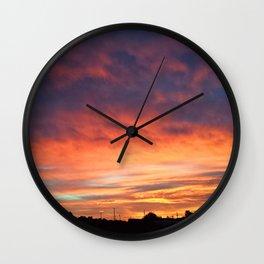 October Sunrise Wall Clock