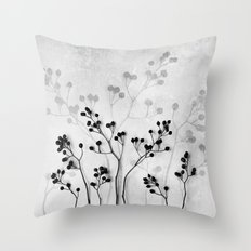 Abstract Flowers 5  Throw Pillow