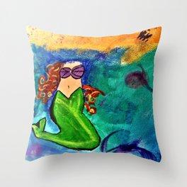Headless Mermaid Throw Pillow