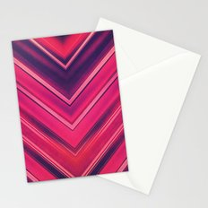 Modern Red / Black Stripe Abstract Stream Lines Texture Design (Symmetric edition) Stationery Cards