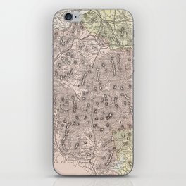 Vintage Map of The White Mountains (1901) iPhone Skin
