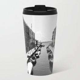Burano Murano Black & White Travel Mug