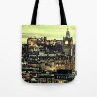 edinburgh Tote Bags featuring Edinburgh by EclipseLio