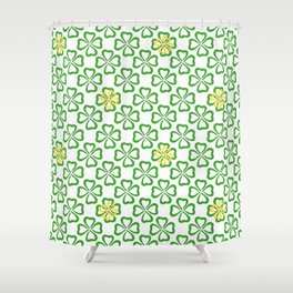 Clover Leaves Pattern Shower Curtain
