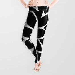 Black & White Chrysanthemum Leggings