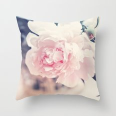 Beautiful Peony Flower Art Throw Pillow