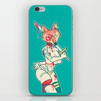 kendrawcandraw iPhone & iPod Skins featuring Coyote Teeth by kendrawcandraw