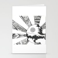 death star Stationery Cards featuring Death Star by Meg Langmyer