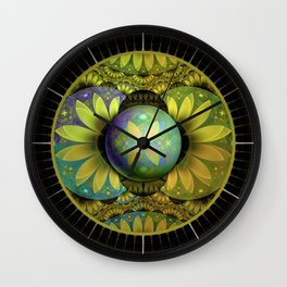 The Enchanted Feathers of the Golden Snitch Wall Clock