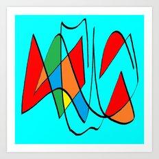 Abs blue multicolor Art Print