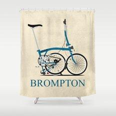 Brompton Bike Shower Curtain