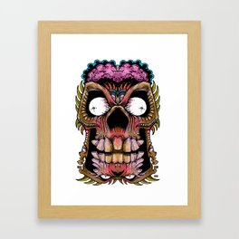 tiki creepy Framed Art Print