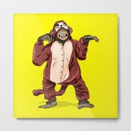 Monkey Onesie Metal Print
