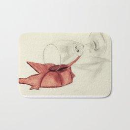 Spilling Wine 2- Color Bath Mat