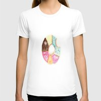 doughnut T-shirts featuring Multi Doughnut by Sweet Colors Gallery