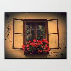 Old cozy window Canvas Print
