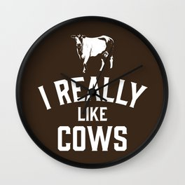 I Really Like Cows Wall Clock