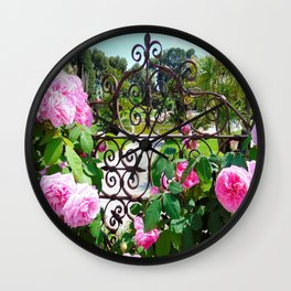 Rothschild Roses Wall Clock