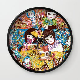 Colorful days Wall Clock