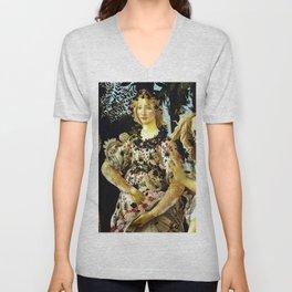 """Sandro Botticelli """"Spring"""" Flora (1) Unisex V-Neck"""