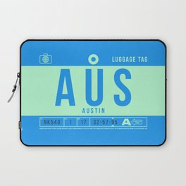 Luggage Tag B - AUS Austin Bergstrom USA Laptop Sleeve