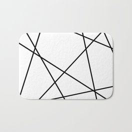 Lines in Chaos II - White Bath Mat