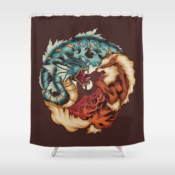 The Tiger And Dragon Shower Curtain By Meganlara