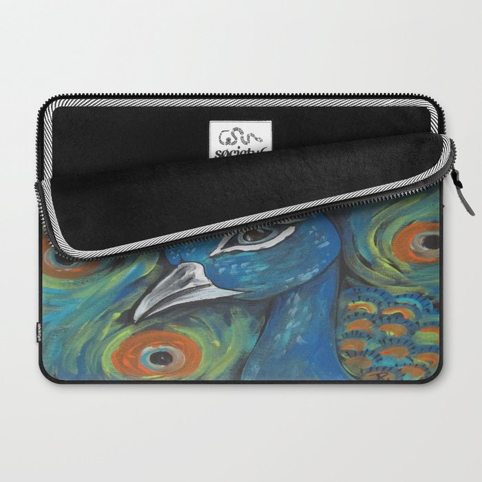 Peacock Head Laptop Sleeve