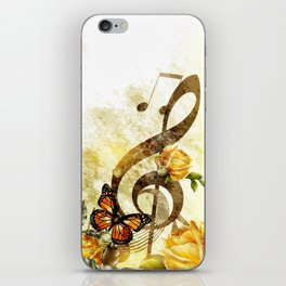 Butterfly Music Notes iPhone Skin