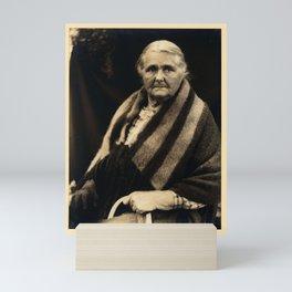 Doris Ulmann  (1882–1934), Elderly Native American woman with blanket draped over her shoulders, sea Mini Art Print