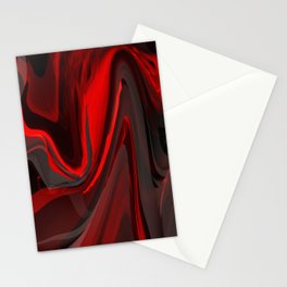 Red Flow Stationery Cards
